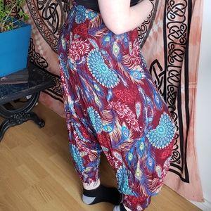 Hippie Pants - Peacock pattern